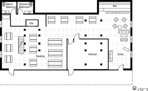 interior restaurant floor plan with bar with fascinating