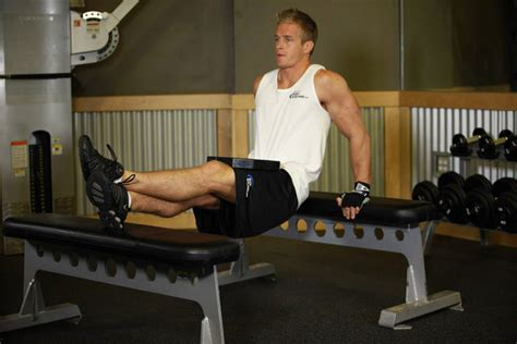 bench dips muscles weighted bench dip exercise guide and video