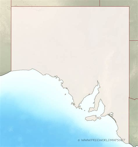 Blank Outline Map South Australia by South Australia Maps