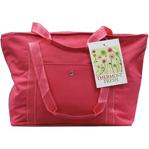 quest eco friendly insulated grocery bag fuschia