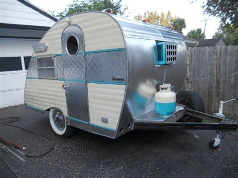 retro teardrop cer for sale vintage tear drop cer trailer canned ham project tiki