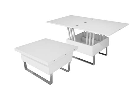 table basse manger table basse relevable blanche