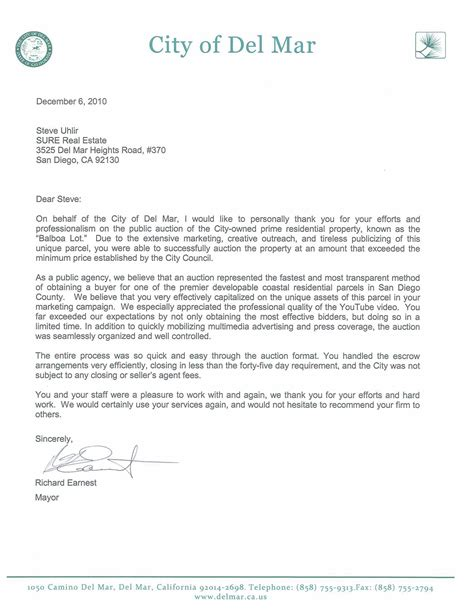 Thank You Letter Real Estate Real Estate Thank You Letters Quotes