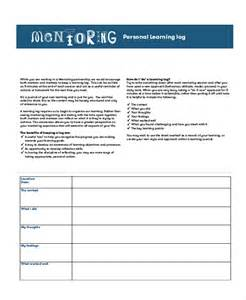 mentoring application templates learning log template 10 free word excel pdf document