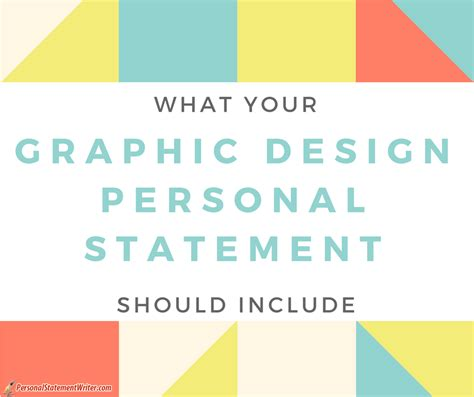 what you should include into graphic design personal statement