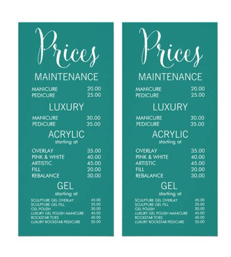 menu price list template 22 price menu templates free sle exle format