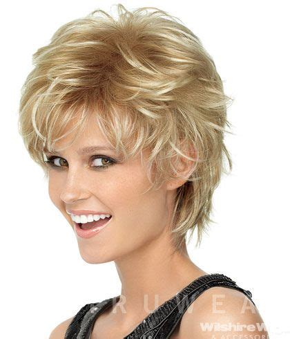 spiky shoulder length hairstyles for women spiky cut wig shadow shades by hairdo short wigs by