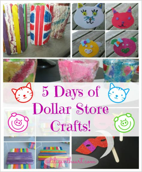 how to crafts for 5 days of dollar store crafts a diligent