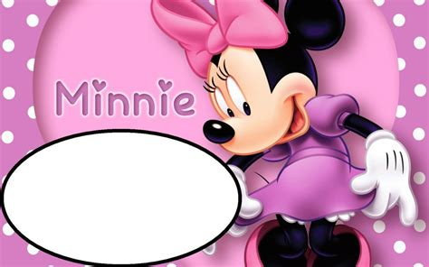 Minnie Mouse Birthday Card Template by Pink Minnie Mouse Template For Birthday Invitations