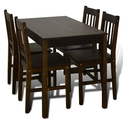 Brown Dining Table And Chairs Brown Wooden Dining Table With 4 Chairs Brown Lovdock