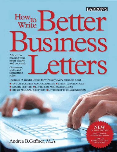 writing formal letters book how to write better business letters