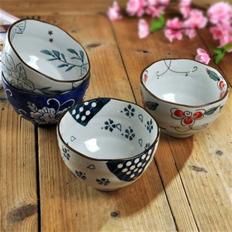 Peralatan Makan Blossom 1 Set ceramics tableware japanese style bowl blue and white porcelain set rice bowl noodle bowl