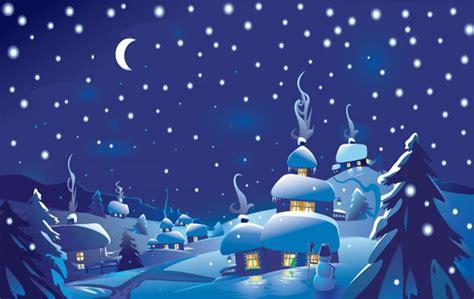 christmas night scene clipart clipground