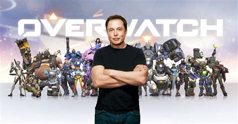 elon musk video game elon musk plays overwatch and other video games like