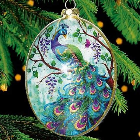 peacock christmas ornaments cheap 17 best images about peacock on trees peacock ornaments and