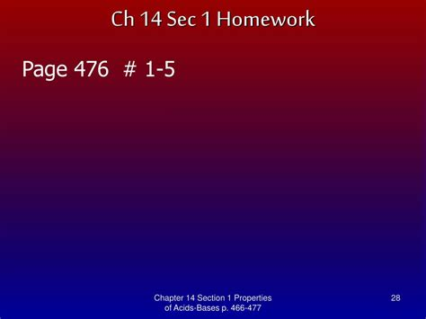 Chapter 14 Section 1 by Ppt Modern Chemistry Chapter 14 Acids And Bases