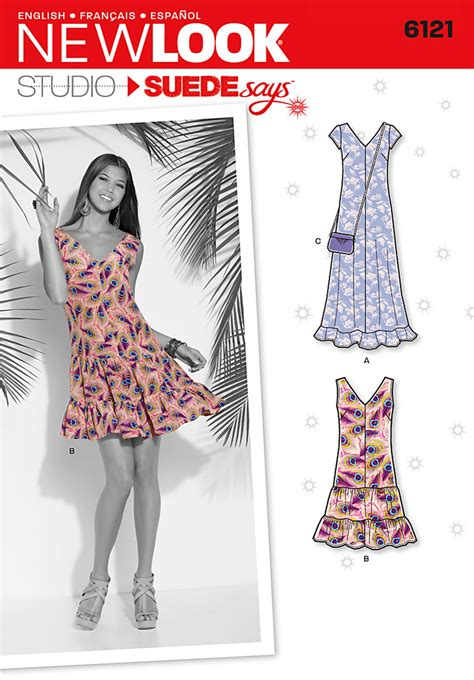 pattern review new look new look 6121 misses dress