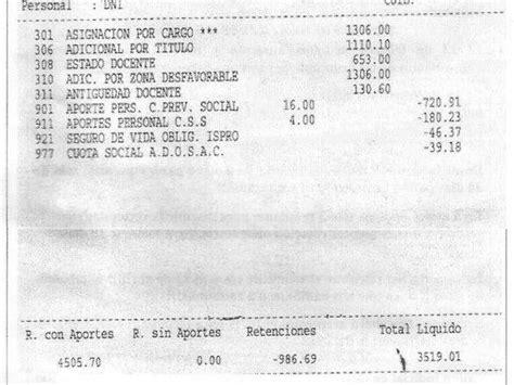 recibo de sueldo de un docente recibos de sueldo de un docente santacruce 241 o taringa