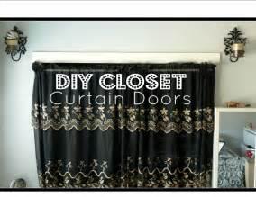Curtain Instead Of Door Diy Closet Curtain Doors Cheap Easy Room Decor Youtube