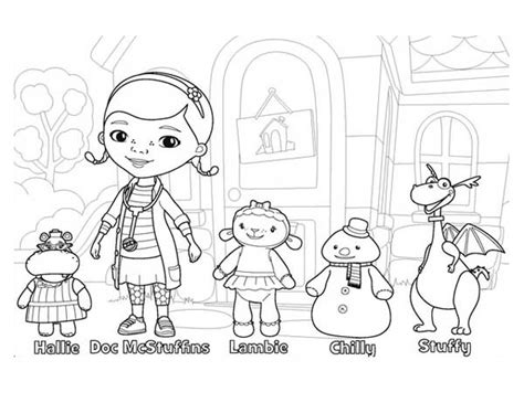 doc mcstuffins giant coloring pages mc stuffin colouring pages