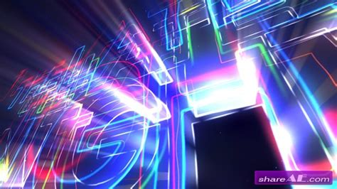 Neon Opener For Logos And Texts After Effects Project Videohive 187 Free After Effects After Effects Templates Free Cs6