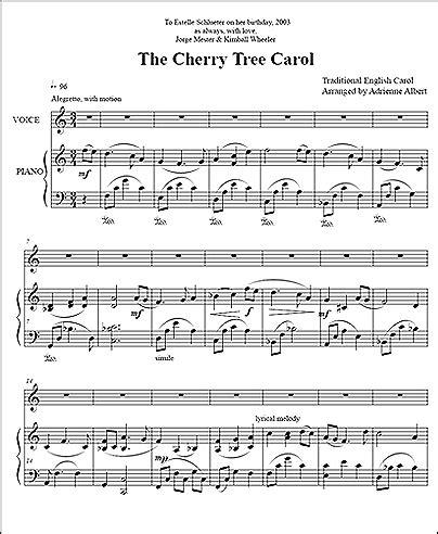 cherry tree carol adrienne albert cherry tree carol