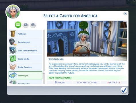 actor career sims 4 cheat soothsayer career by purplethistles at mod the sims 187 sims