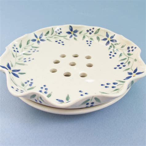 ceramic soap dish with matching drainage tray pottery soap