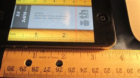 thruler is proof that iphone rulers don t quite measure up