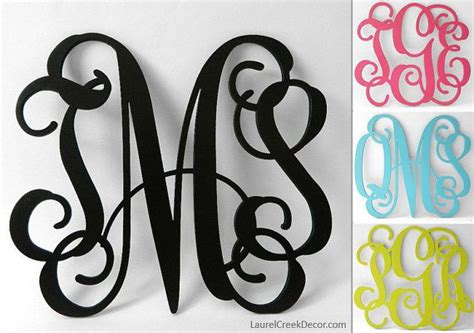 Letter Initials Wall Decor by The World S Catalog Of Ideas