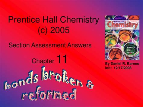 prentice hall chemistry section assessment answers ppt prentice hall chemistry c 2005 powerpoint