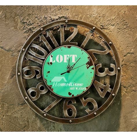 novelty wall clocks hanging    wood carved