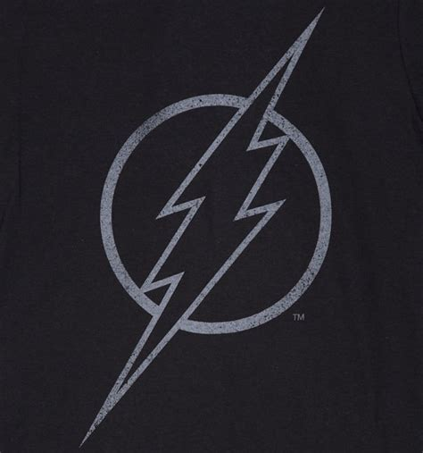 Logo Black Ts 1 s black flash outline dc comics logo t shirt