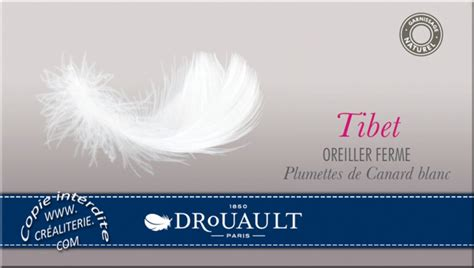 Oreillers Drouault by Oreiller Drouault Tibet Naturel Duvet De Canard Blanc