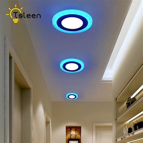 Color Changing Led Ceiling Lights Tsleen Modern Led Ceiling Lights Living Room Remote Controlled Dimmable Color Changing