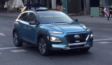 hyundai new exclusive new 2018 hyundai kona captured completely