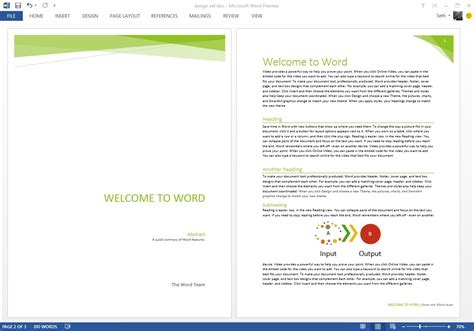 design a header in word starting off right templates and built in content in the