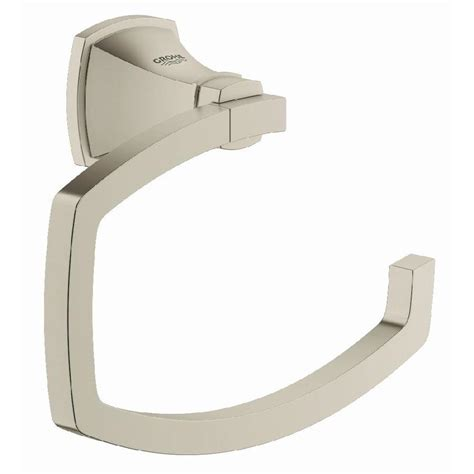 shop grohe grandera brushed nickel infinity 1 handle freestanding bathtub faucet at lowes com shop grohe grandera brushed nickel infinity surface mount