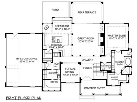 house plans with mudroom houseplans com bungalow craftsman main floor plan plan
