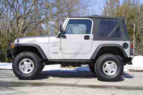 2000 Jeep Wrangler Top Buy Used 2000 Jeep Wrangler Sport Utility 2 Door 4 0l