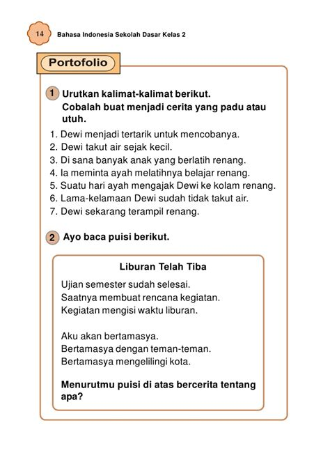membuat puisi tentang ayah sd mi kelas02 bahasa indonesia umri indriyani