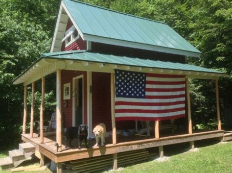 sq ft tiny loft cabin  wraparound porch