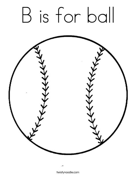 b is for ball coloring page twisty noodle
