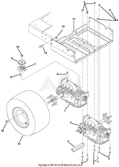 ariens    ezr  parts diagram  transaxle  wheels