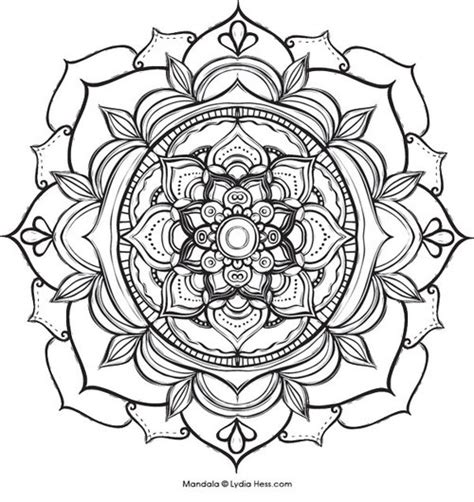 nature mandala coloring pages printable lydia hess illustration sacred nature and symbolswork