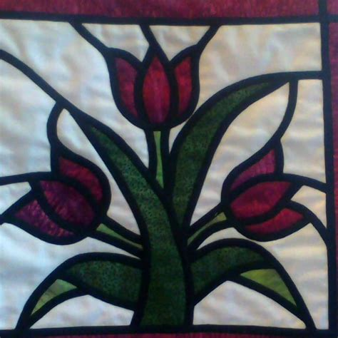 Stained Glass Patchwork - patchwork workshop stained glass window