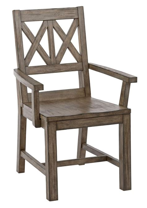 solid wood armchair rustic solid wood arm chair with weathered gray finish and