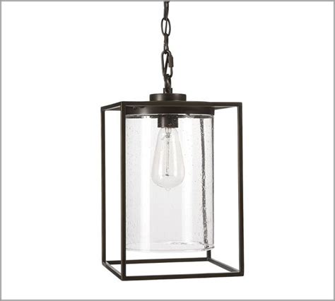 Modern Outdoor Pendant Lighting Fixtures Garrison Pendant Modern Outdoor Hanging Lights By Pottery Barn