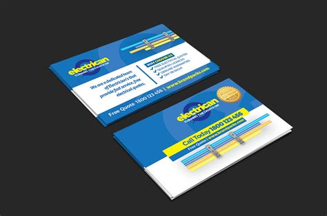 electrician business cards templates free business card