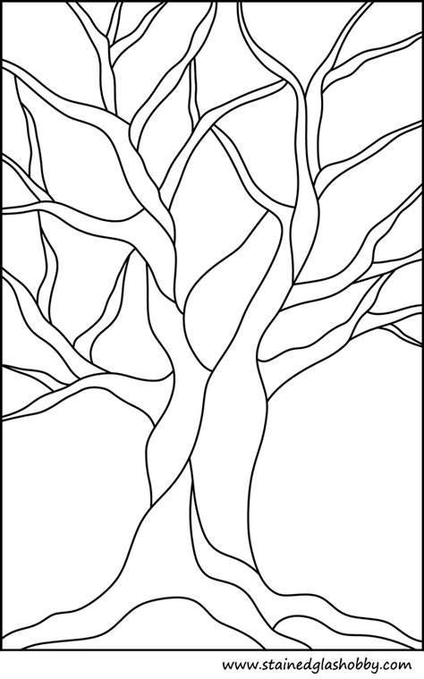 color pattern trees bare tree outline coloring pages